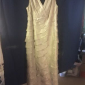 David's Bridal gold/tan Formal Dress size 12